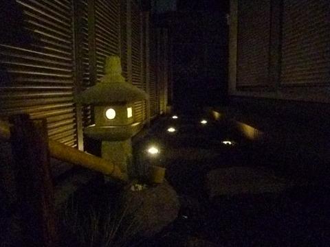 徳永様の自宅の庭園灯