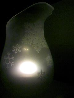 山本さんガラスのランプシェード