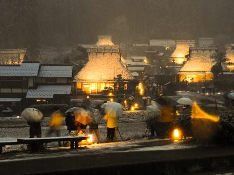 美山かやぶきの里 雪灯廊02